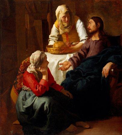 Cristo en casa de María y Marta, 1654-1655