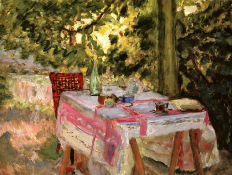 La Mesa Puesta en el Jardín, h. 1920, Pierre Bonnard