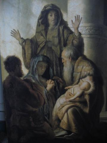 Ana y Simón en el Templo, 1627