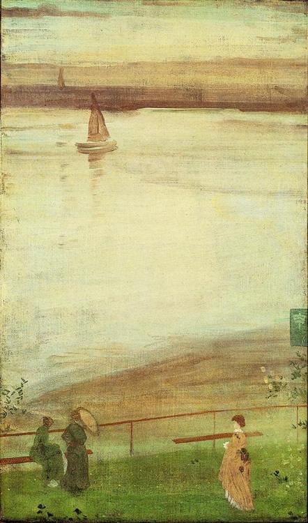 Variaciones en Blanco y Violeta, h. 1872, James Whistler