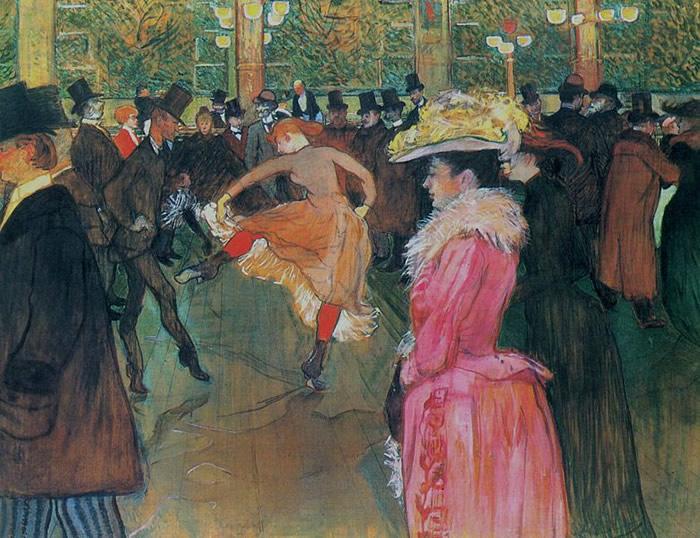 Baile en el Moulin Rouge, 1889-90, Henri de Toulouse-Lautrec