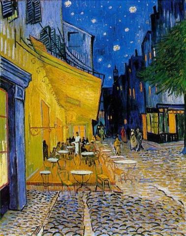 Terraza del Café de la Place du Forum, 1888, Vincent Van Gogh