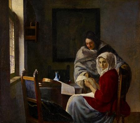 La lección de música interrumpida, 1660 – 1661