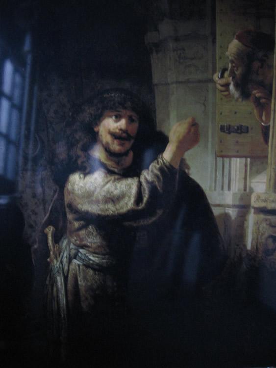 Sansón Amenazando a su Suegro, 1635