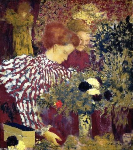 La Mujer del Vestido a Franjas, 1895, Edouard Vuillard