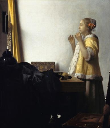 Mujer con collar de perlas, 1664