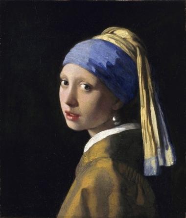 Joven con pendiente de perla, 1665-1667