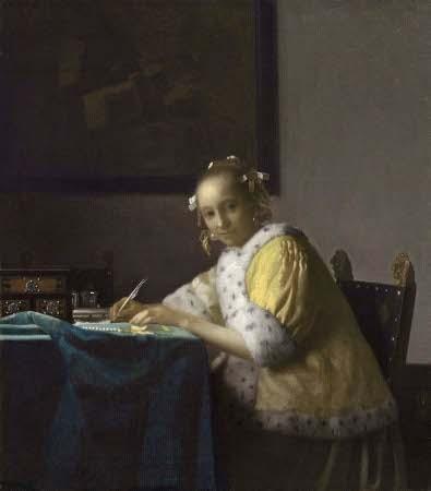 Mujer escribiendo una carta, 1665