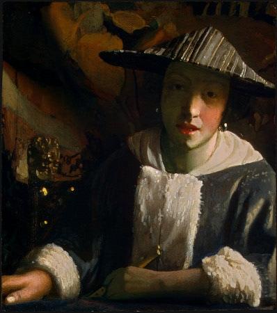 Muchacha con flauta, 1665-1670