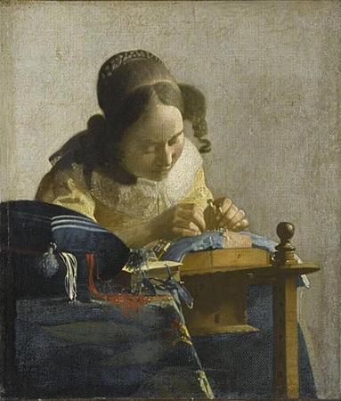 La encajera, 1669-1670
