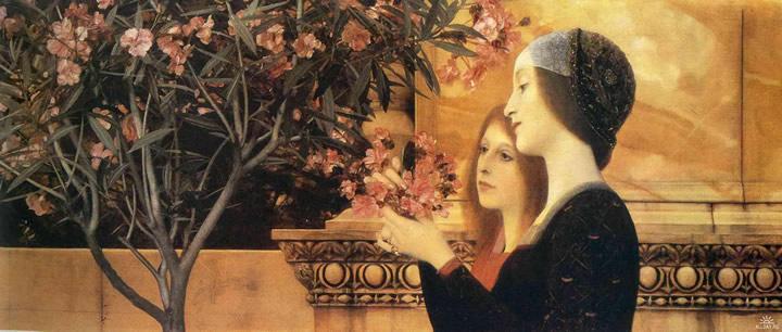 Dos Niñas con la adelfa, 1893, Gustav Klimt