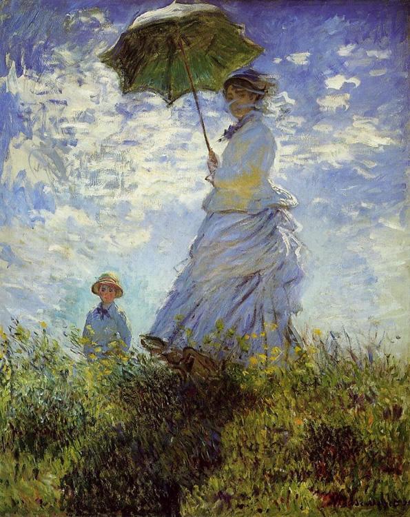 Mujer con Quitasol o Madame Monet y su Hijo, 1875 Claude Monet