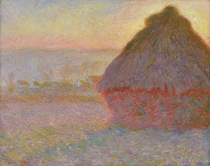Parva de Heno al Atardecer, 1891, Claude Monet