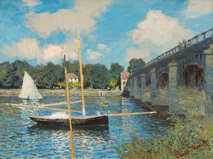 El Puente de Argenteuil, 1874,  Claude Monet