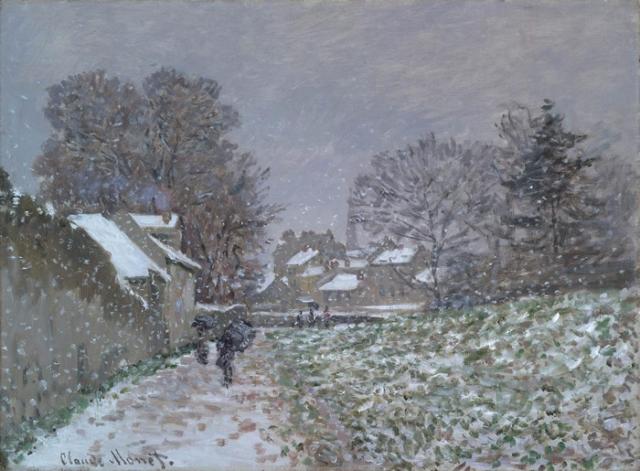 Nieve en Argenteuil, 1874, Claude Monet