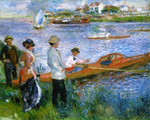 Remeros en Chatou, 1879,  Pierre Auguste Renoir