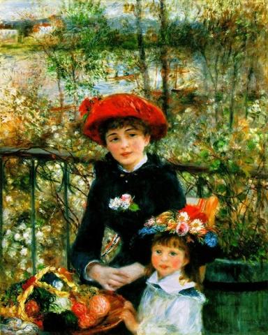 Dos Hermanas o En la Terraza, 1881,  Pierre Auguste Renoir