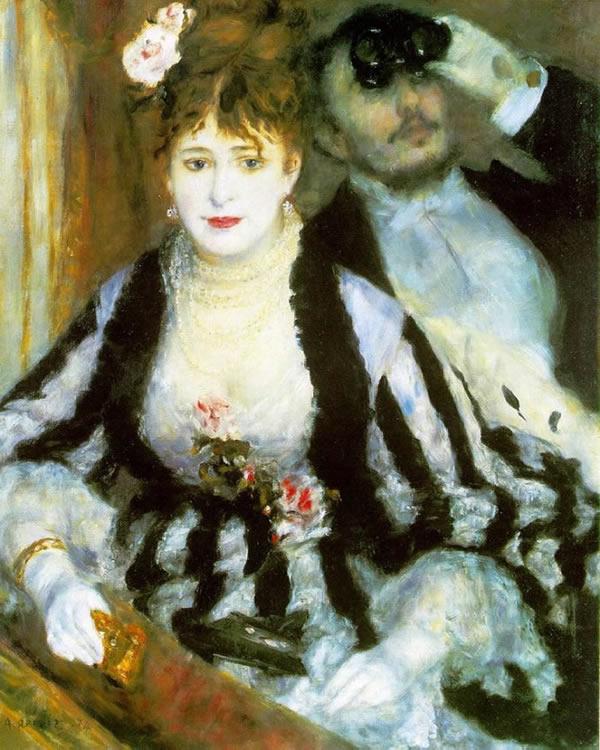 El Palco, 1874, Pierre Auguste Renoir