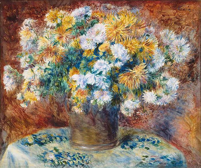 Crisantemos, 1882,  Pierre Auguste Renoir