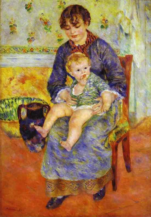 Madre y Niño, 1881, Pierre Auguste Renoir