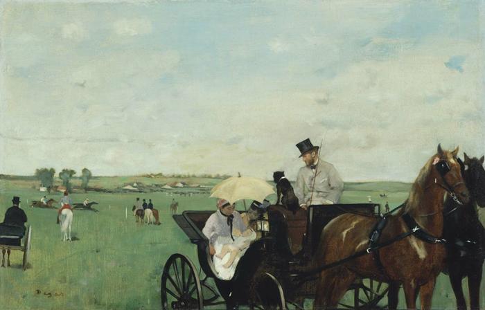 Carruaje en las Carreras, 1873-1874,  Edgar Degas