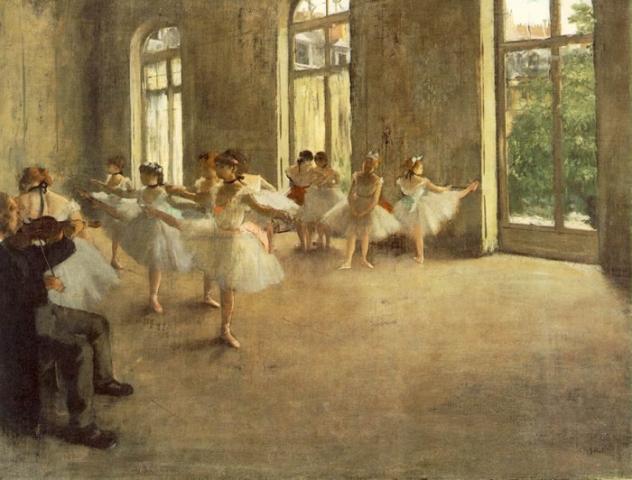 El Ensayo, 1873-1874,  Edgar Degas