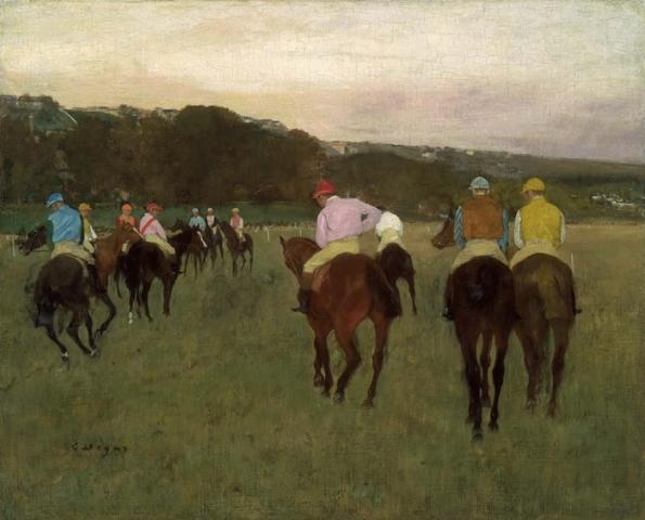Caballos de Carrera en Longchamp, 1873-1875, Edgar Degas